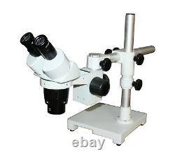 10-30x Stereo Microscope Boom Stand 100mm/4inch WD for PCB Inspection Jewellery