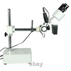 10X Widefield Stereo Microscope, Single Arm Boom Stand, Incandescent Top Light