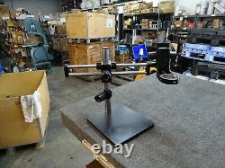 15 Tall Scienscope 18 Double Boom Arm Microscope Stand 11X10 Base 76mm Hole