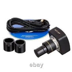 3.5X-45X Simul-Focal Stereo Zoom Microscope on Boom Stand + Ring Light + Camera