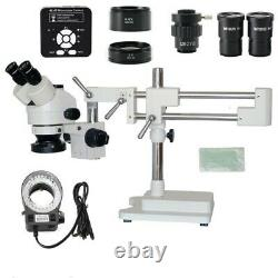 3.5X 7X 45X 90X Double Boom Stand Trinocular Stereo Microscope with Camera 41MP
