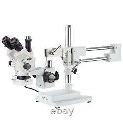 3.5X-90X Simul-Focal Stereo Boom Stand Microscope + Fluorescent Light