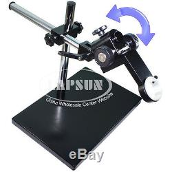 50mm Dual-Arm Metal Boom Stereo Industry Microscope Table Stand Holder Support