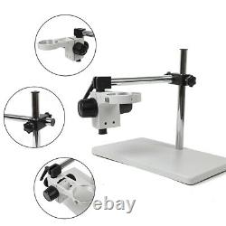 76mm Microscope Support Boom Stereo Holder Multi-axis Rotating Table Stand USA
