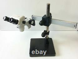 Accu-Scope 3075 Series Stereo Microscope, 6.7-45x WF10x/22mm, with Post Boom Stand