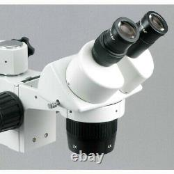 AmScope 10X & 30X Stereo Microscope with Single-Arm Boom Stand