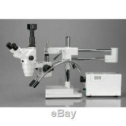 AmScope 2X-180X Ultimate Trinocular Stereo Zoom Microscope on 3D Boom Stand