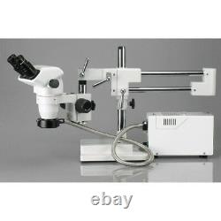 AmScope 2X-225X Professional Boom Stereo Microscope with Focusable Eyepieces