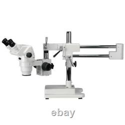 AmScope 2X-90X Professional Boom Stereo Microscope with Focusable Eyepieces