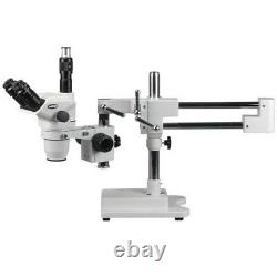AmScope 6.7X-90X Trinocular Boom Stereo Microscope with Focusable Eyepieces