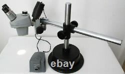 Bausch & Lomb. 7x 3x Stereo Zoom Microscope 10x Eyepieces Light Boom Stand
