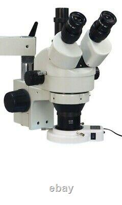 Boom Stand Zoom Stereo Microscope 3.5X-90X 54 LED Light