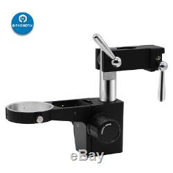 Double Arm Boom Stand 7-45X Trinocular Stereo Zoom Microscope Phone Soldering