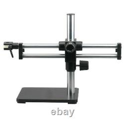 Double Arm Boom Stand for Stereo Microscopes Steel Arms, Pin Mount
