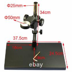 Dual Arm Heavy Duty Boom Large Stereo Table Stand 50mm Ring For Microscope