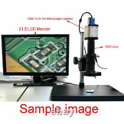 Heavy Duty Dual-Arm Metal Boom Stereo Microscope Table Stand Holder Ring
