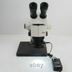 LEICA M80 STEREO ZOOM MICROSCOPE With 0.63X OBJECTIVE, BOOM STAND, & LED LIGHT