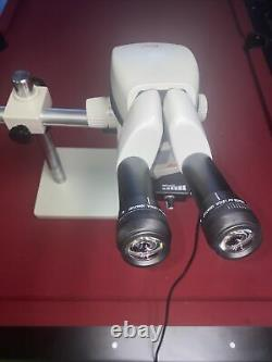 LEICA M80 STEREO ZOOM MICROSCOPE With OBJECTIVES, BOOM STAND, & LED LIGHT