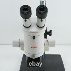 LEICA MZ6 STEREO MICROSCOPE With BOOM STAND, F=150 OBJECTIVE & COAX ILLUMINATOR