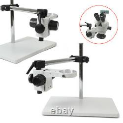 Lab Microscope Boom Stand Table Multi-axis 360° Stereo Focusing Holder 76mm Ring