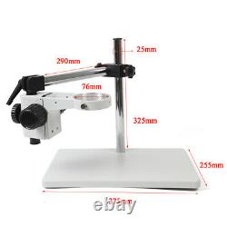 Lab Microscope Support Boom Stereo Holder Multi-axis Rotating Table Stand 76mm