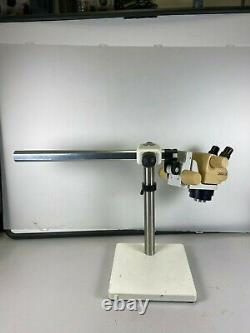 Leica SZ4 StereoZoom 4 Microscope with long Boom Stand & Ring Light VGC