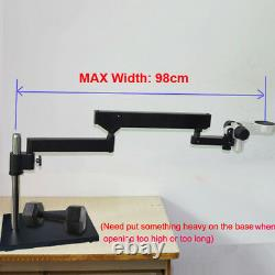 Long Arm Heavy Duty Boom Large Stereo Table Stand For DIA 76mm Microscope STL6 S