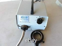 Luxo Ball Bearing Boom Microscope With Fiber Light Source For Rework. Rarely Used