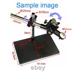 Metal Boom Stereo Microscope Camera Table Stand Holder + 180X Zoon C-mount Lens