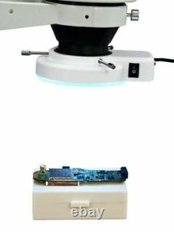 OMAX 7X-45X Boom Stand Zoom Stereo Inspection Microscope + 144 LED Ring Light