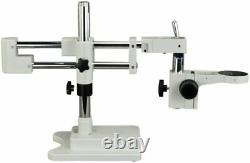 OMAX Dual-bar Boom Stand with Focusing Rack 76mm for Stereo Microscopes A602