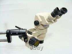 Olympus SZ60 Stereozoom Microscope With Boom Stand, GSWH10X Eyepieces & SZ-STB1