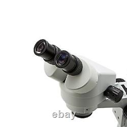 SWIFT 3.5X-90X Binocular Stereo Microscope Boom Stand Zoom with LED Ring Light