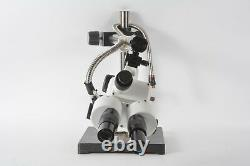 Scienscope Stereo Zoom Binocular Microscope with Boom Stand WFH10x Eyepieces