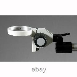 Single Aluminum Arm Boom Stand for Stereo Microscope Tube Mount 84mm Focus Block