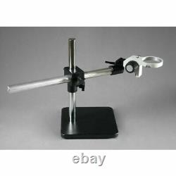 Single Aluminum Arm Boom Stand for Stereo Microscopes Pin Mount 76mm Focus Block