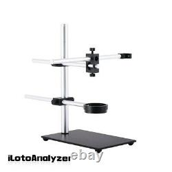 Stereo Microscope Boom Stand Dual Arm 56mm Ring Holder For Industrial Cameras