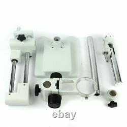 Stereo Microscope Stand Holder Double Boom Lab Industrial Zoom Bracket Arm 76mm