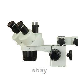 Trinocular 20X-40X Stereo Single Bar Boom Stand Microscope w 56 LED Ring Light