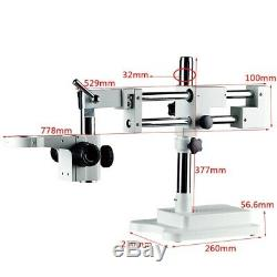 Universal Adjustable Double Boom Arm for Stereo Trinocular Microscope