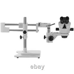 VEVOR 3.5X-90X 5MP Trinocular Stereo Zoom Microscope with Double Arm Boom Stand