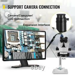 VEVOR 7-45X Trinocular Stereo Microscope Zoom Microscope Boom Stand with LED Light