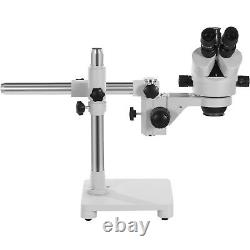 VEVOR Trinocular Stereo Microscope Zoom Microscope 7-45X Boom Stand with LED Light