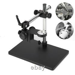 Video Microscope Adjustable Boom Large Stereo Arm Table Stand 50mm Ring Holder