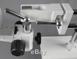 Vision Binocular Zoom Stereo Microscope with Double Arm Ball-bearing Boom Stand