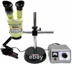 Wild Heerbrugg M5 Stereo Microscope with Boom Stand and Wild Light Source #89295