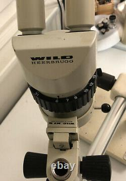 Wild Heerbrugg M7S, Stereo Zoom Microscope, With Heavy Duty Boom Stand