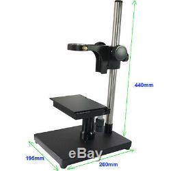 X Y Stage +Heavy Duty Metal Boom Stereo Table Stand Holder F Microscope Camera S