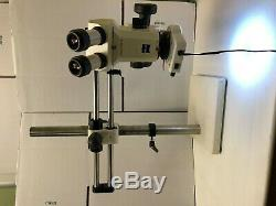 Zeiss Stemi SV 6 Stereo Microscope with W-Pl10x/23 Eyepieces Boom and Light
